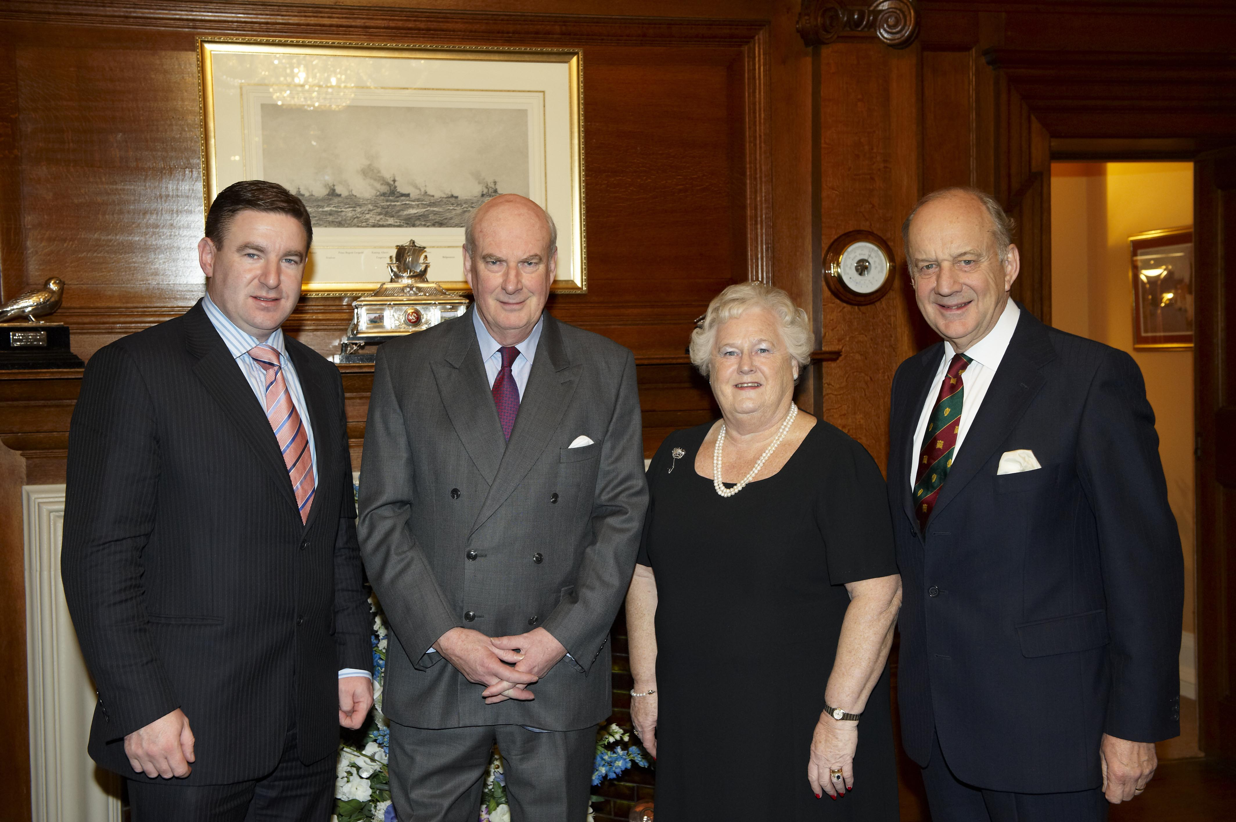 BIPA Co-Chairs, Niall Blaney TD and Lord Cope of Berkeley, meet the Lieutenant Governor of the Isle of Man, Vice Admiral Sir Paul Haddacks KCB and Lady Haddacks