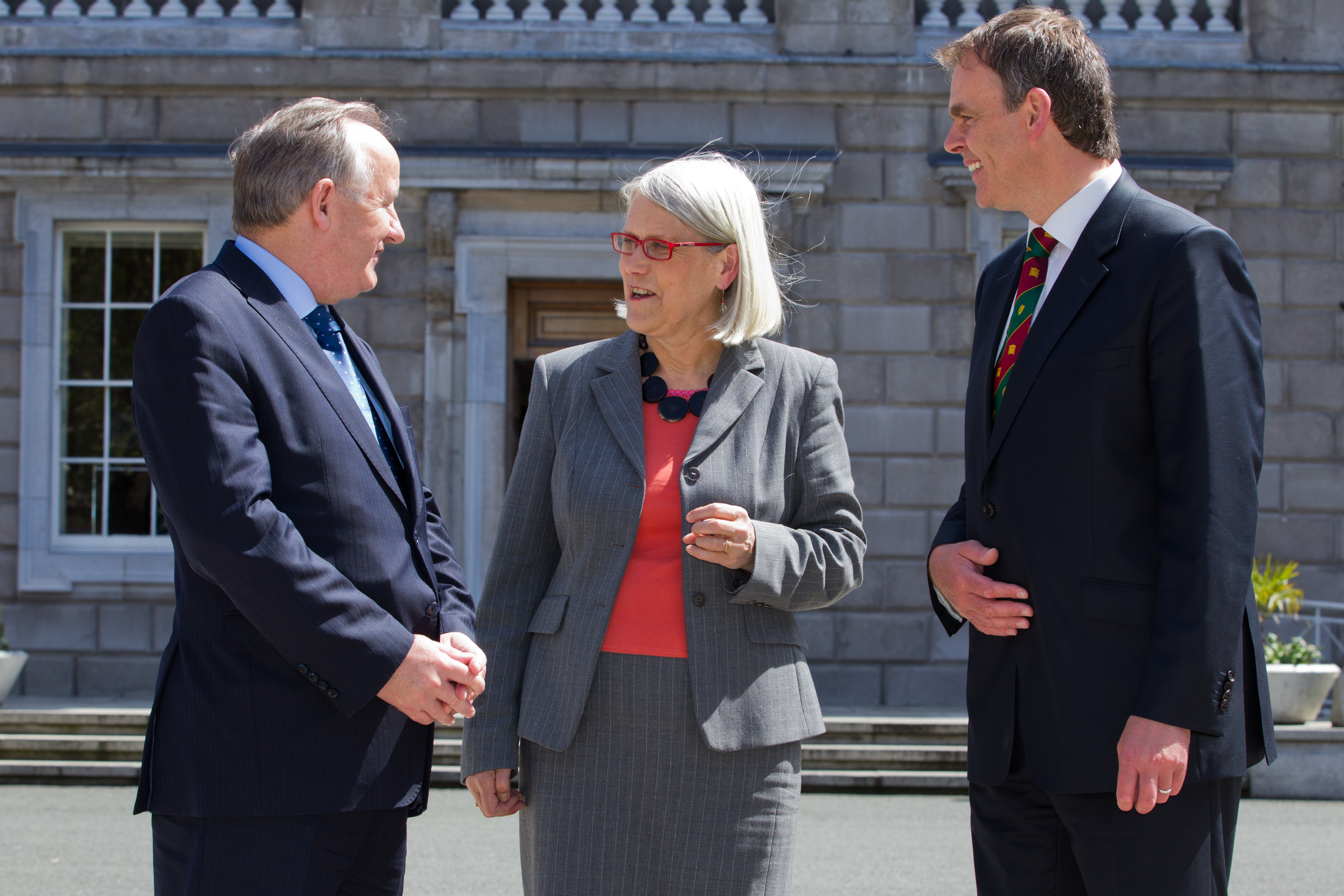 Darina Allen of Ballymaloe Cookery School, with BIPA Co-Chairs Joe McHugh TD and Laurence Robertson MP, after her address to the 44th plenary in Leinster House
