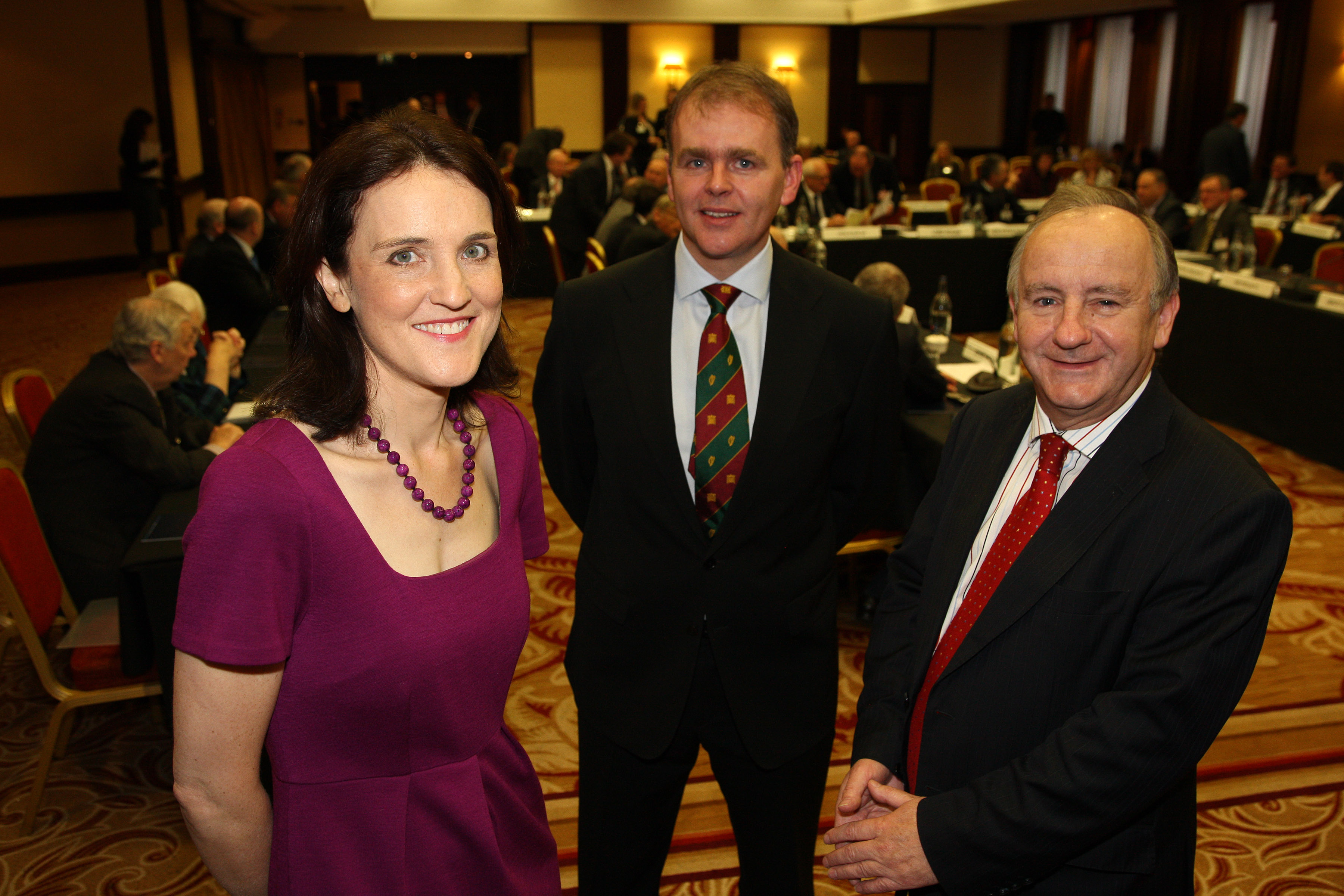 Secretary of State for Northern Ireland, Theresa Villiers MP, with the Co-Chairs of the British Irish Parliamentary Assembly, Joe McHugh TD and Laurence Robertson MP, at the 45th plenary, Glasgow